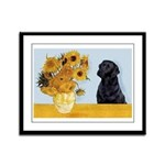 Sunflowers / Lab Framed Panel Print