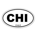 Chile Oval Sticker