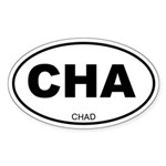Chad Oval Sticker