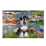 Lilies / Schnauzer Postcards (Package of 8)