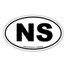 Nova Scotia Oval Bumper Stickers