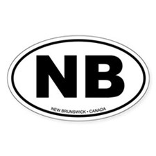 New Brunswick Oval Bumper Stickers
