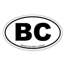 British Columbia Oval Bumper Stickers