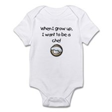 When I Grow Up I Want To Be A Chef Infant Bodysuit