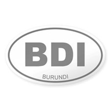 Burundi Oval Decal