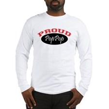 Proud PopPop (black & red) Long Sleeve T-Shirt