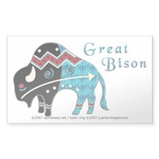 Great Bison #2 Rectangle Decal