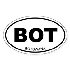 Botswana Oval Decal