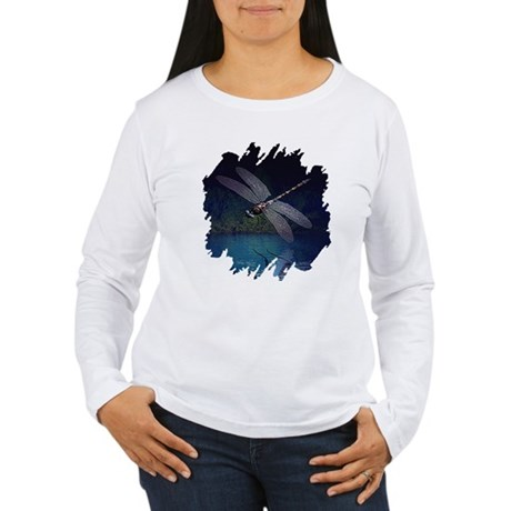 Dragonfly at Night Women's Long Sleeve T-Shirt