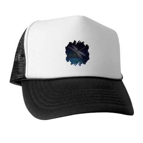 Dragonfly at Night Trucker Hat