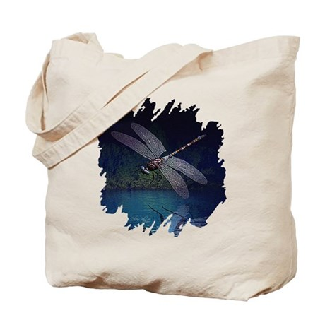 Dragonfly at Night Tote Bag