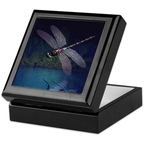 Dragonfly at Night Keepsake Box