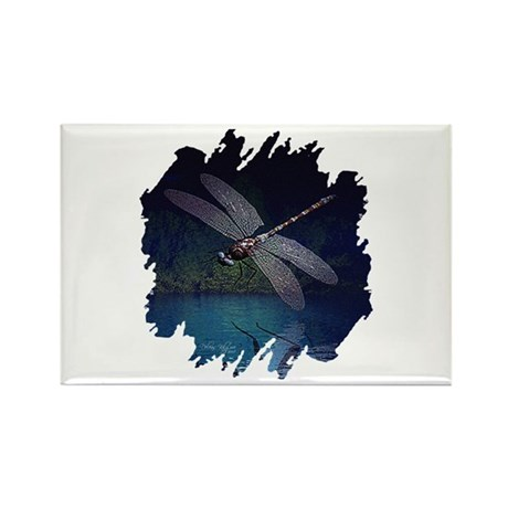 Dragonfly at Night Rectangle Magnet