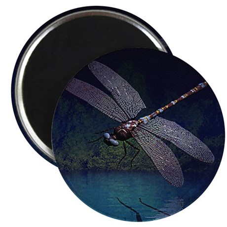 "Dragonfly at Night 2.25"" Magnet (100 pack)"