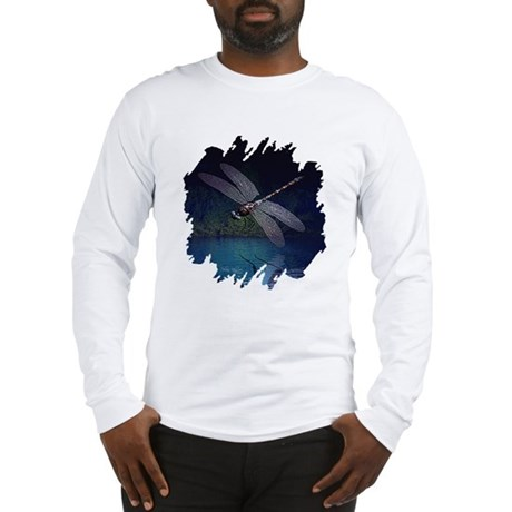 Dragonfly at Night Long Sleeve T-Shirt