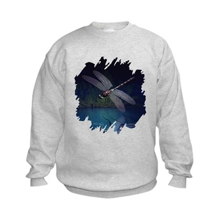 Dragonfly at Night Kids Sweatshirt