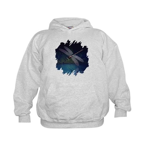 Dragonfly at Night Kids Hoodie