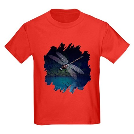 Dragonfly at Night Kids Dark T-Shirt