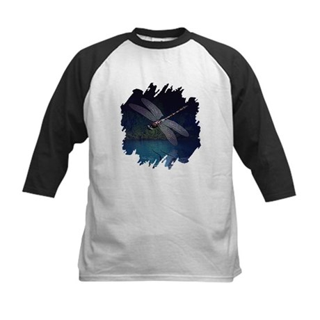 Dragonfly at Night Kids Baseball Jersey