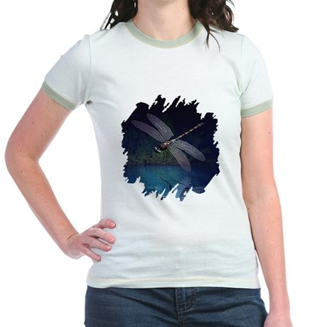 Dragonfly at Night Jr. Ringer T-Shirt