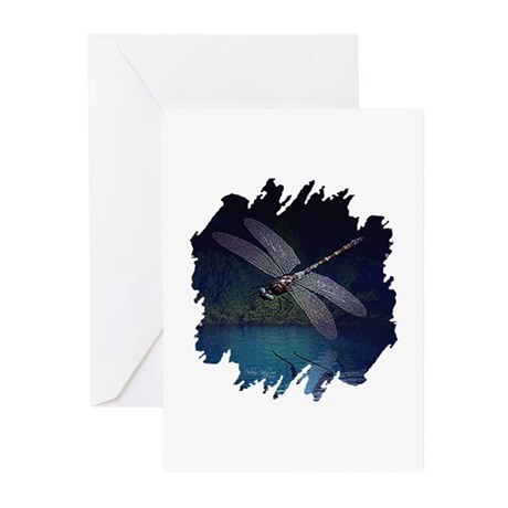 Dragonfly at Night Greeting Cards (Pk of 10)