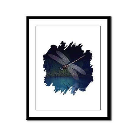 Dragonfly at Night Framed Panel Print