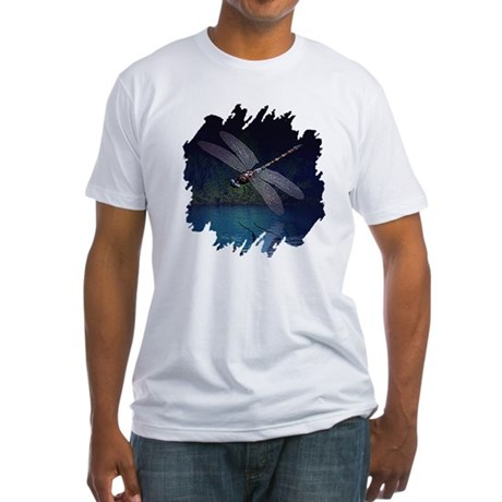 Dragonfly at Night Fitted T-Shirt
