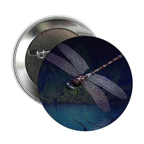 "Dragonfly at Night 2.25"" Button (100 pack)"