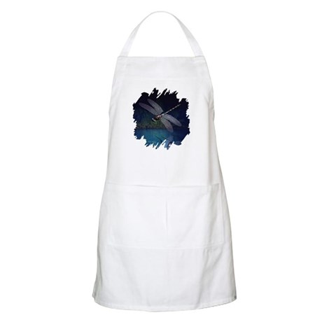 Dragonfly at Night BBQ Apron