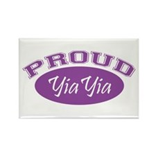 Proud YiaYia (purple) Rectangle Magnet (10 pack)