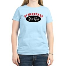 Proud YiaYia (black & red) T-Shirt