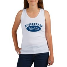 Proud YiaYia (blue) Women's Tank Top