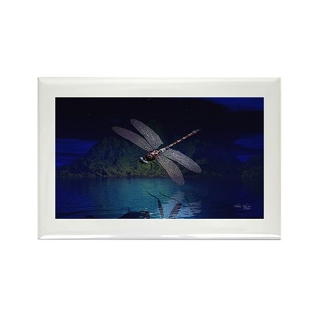 Dragonfly at Night Rectangle Magnet (10 pack)