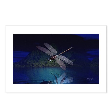 Dragonfly at Night Postcards (Package of 8)