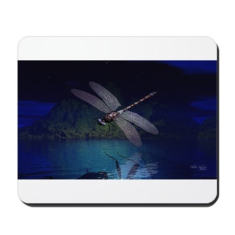 Dragonfly at Night Mousepad