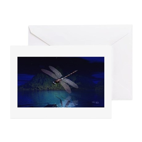 Dragonfly at Night Greeting Cards (Pk of 20)