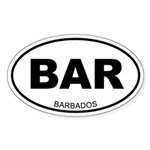 Barbados Oval Sticker
