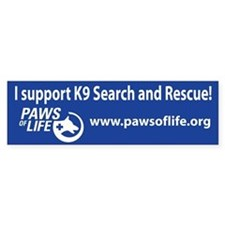 K9 Search and Rescue Support Bumper Sticker