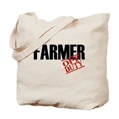 Off Duty Farmer Tote Bag
