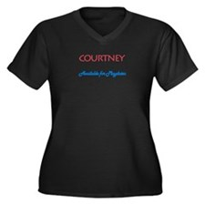 Courtney - Available For Play Women's Plus Size V-