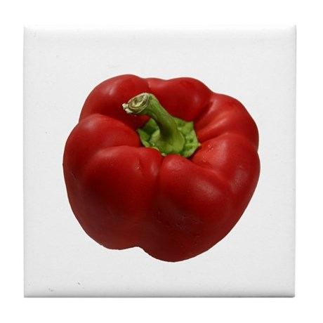 Red Bell Pepper Tile Coaster
