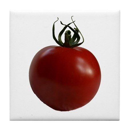 Red Cherry Tomato Tile Coaster