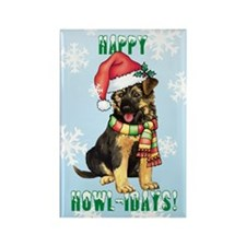Holiday GSD Rectangle Magnet