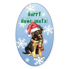 Holiday GSD Oval Decal
