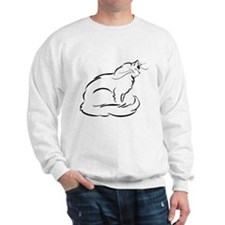 Peaceful Longhaired Cat Sweatshirt