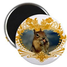 Squirrely Squirrel Crest Magnet
