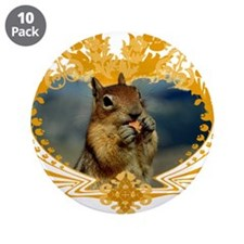 "Squirrel Artwork Crest 3.5"" Button (10 pack)"