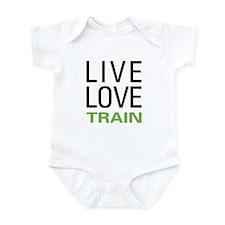 Live Love Train Infant Bodysuit
