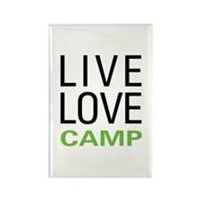 Live Love Camp Rectangle Magnet