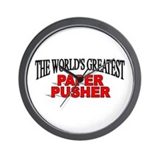 """""""The World's Greatest Paper Pusher"""" Wall Clock"""